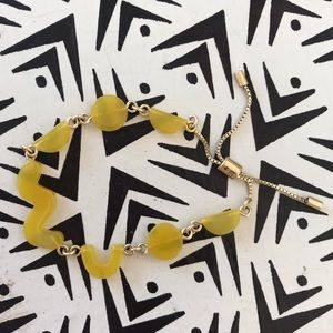 Madewell Jewelry - Madewell adjustable bracelet with yellow shapes